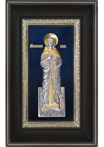 Икона святой мученицы Веры Римской в деревянной рамке 18,5 х 29 см