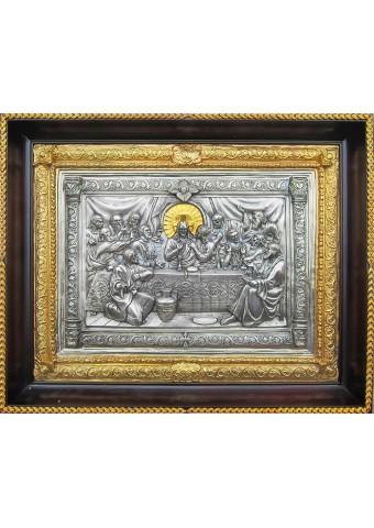 Икона «Тайная Вечеря» в деревянной рамке 55 х 44 см