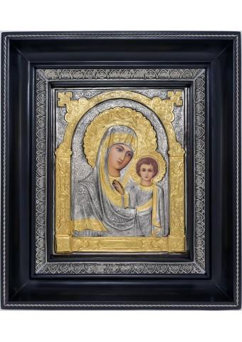 Казанская икона Божией Матери в деревянной рамке 23,5 х 27 см