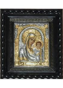 Писаная Казанская икона Божией Матери под стеклом 25 х 29 см