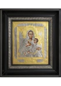 Козельщанская икона Божией Матери в деревянной рамке 25,5 х 28,5 см