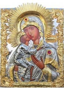 Большая храмовая икона Феодоровской Божией Матери 48 х 63,5 см