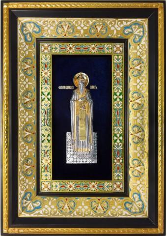 Ростовая икона святого благоверного князя Олега Брянского 29 х 40,5 см