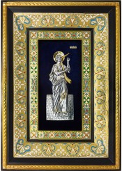 Ростовая икона святого царя Давида Псалмопевца 29 х 40,5 см