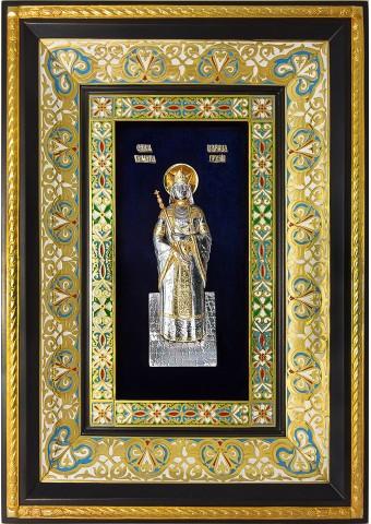 Ростовая икона святой благоверной царицы Тамары Грузинской 29 х 40,5 см
