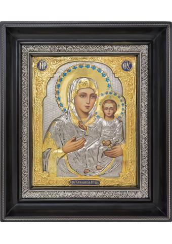 Смоленская икона Божией Матери в деревянной рамке 26,5 х 31 см