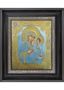 Смоленская икона Божией Матери в деревянной рамке 27 х 31 см