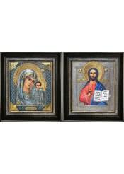 Казанская икона Божией Матери и Спасителя: венчальные иконы 36 х 40,5 см