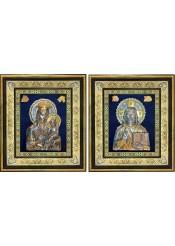 Икона Богородицы «Скоропослушница» и Спаситель: венчальные иконы 40 х 45,5 см