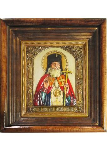 Икона святителя Луки Крымского под стеклом 28 х 32 см