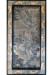 Металлическое панно на стену «Старый Китай» 37,5 х 67,5 см