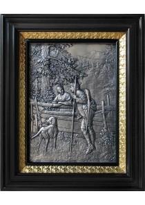 Металлическое панно на стену «Свидание» 24,5 х 30 см