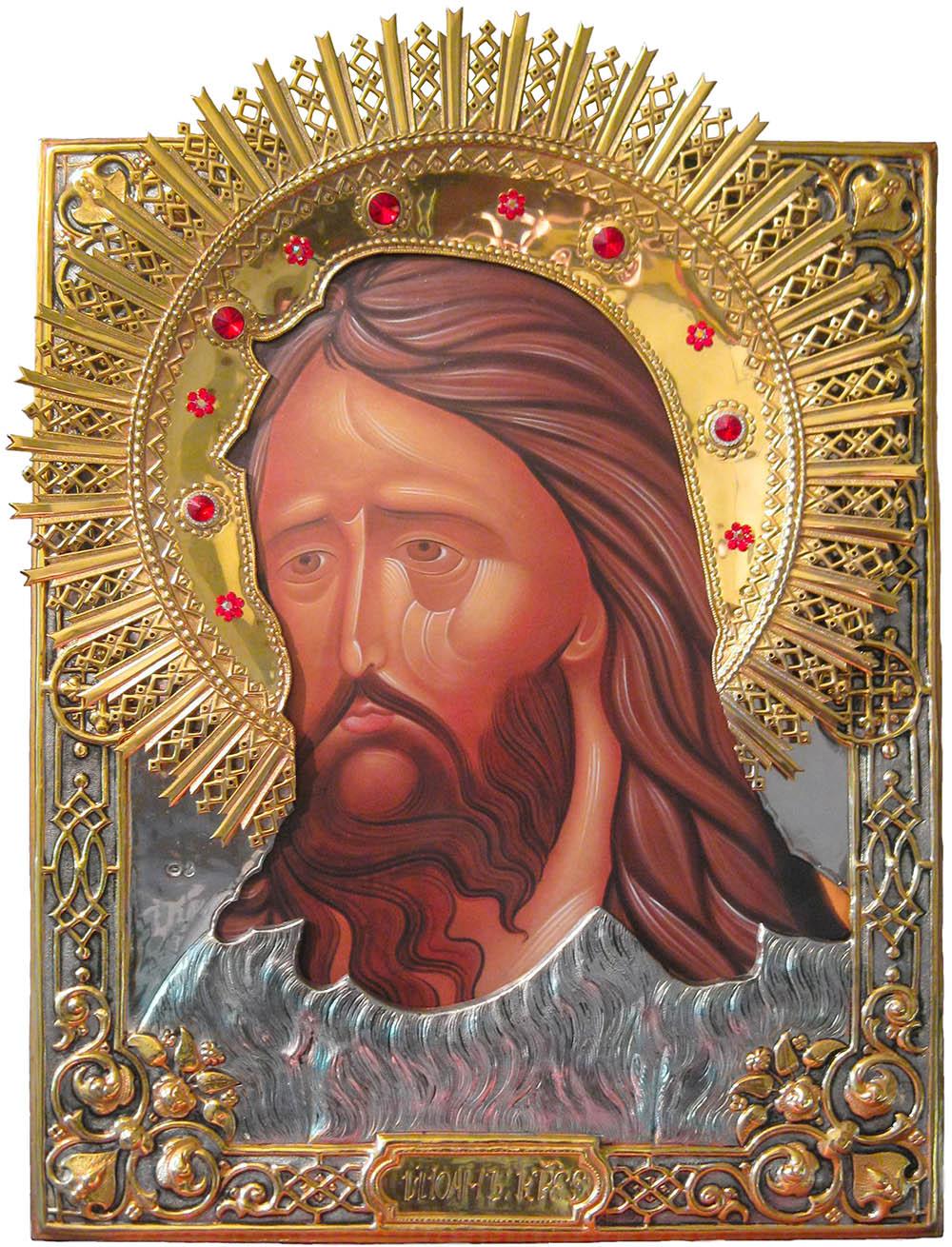 фото храмовая икона святого Иоанна Предтечи и Крестителя Господня большого размера