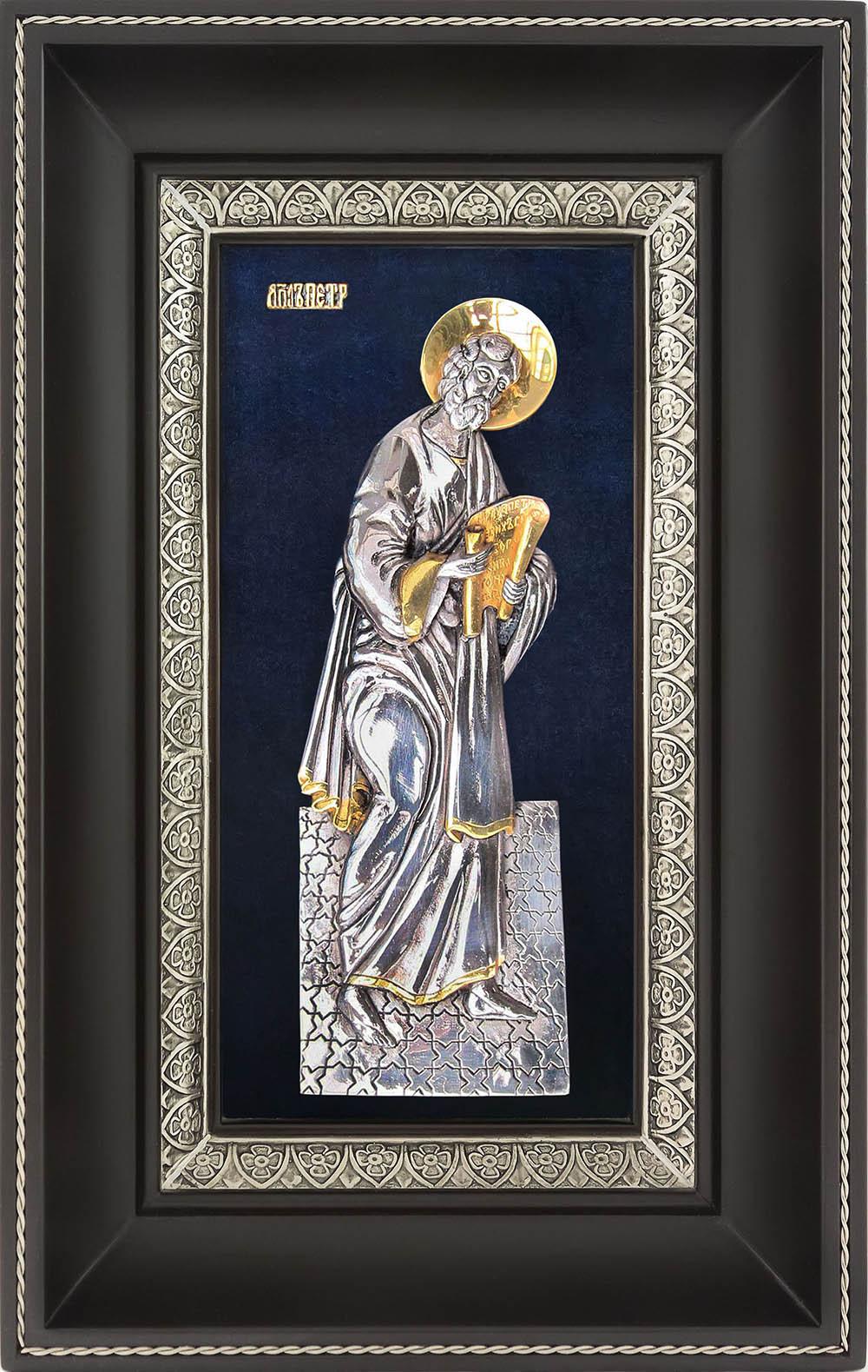 фото икона святого апостола Петра гальванопластика золото серебро