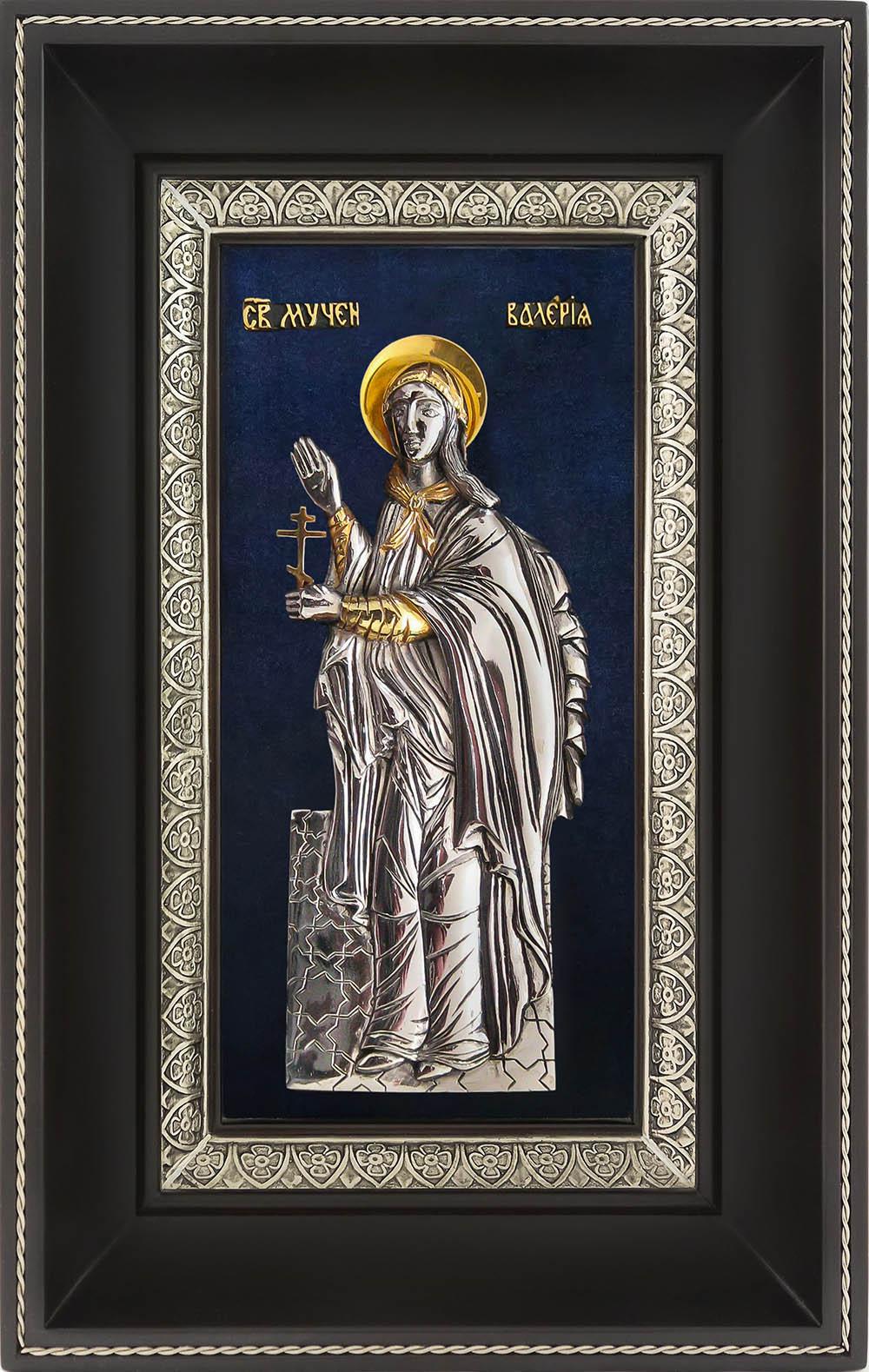 фото икона святой мученицы Валерии Кесарийской Палестинской гальванопластика серебро золото