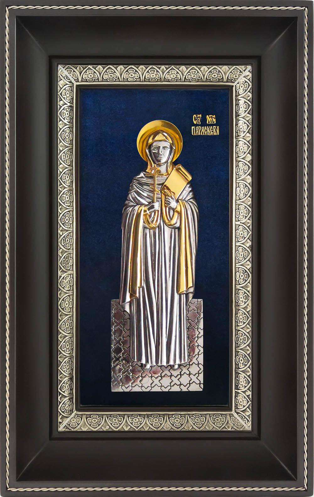 фото икона святая великомученица Параскева Пятница гальванопластика золото серебро