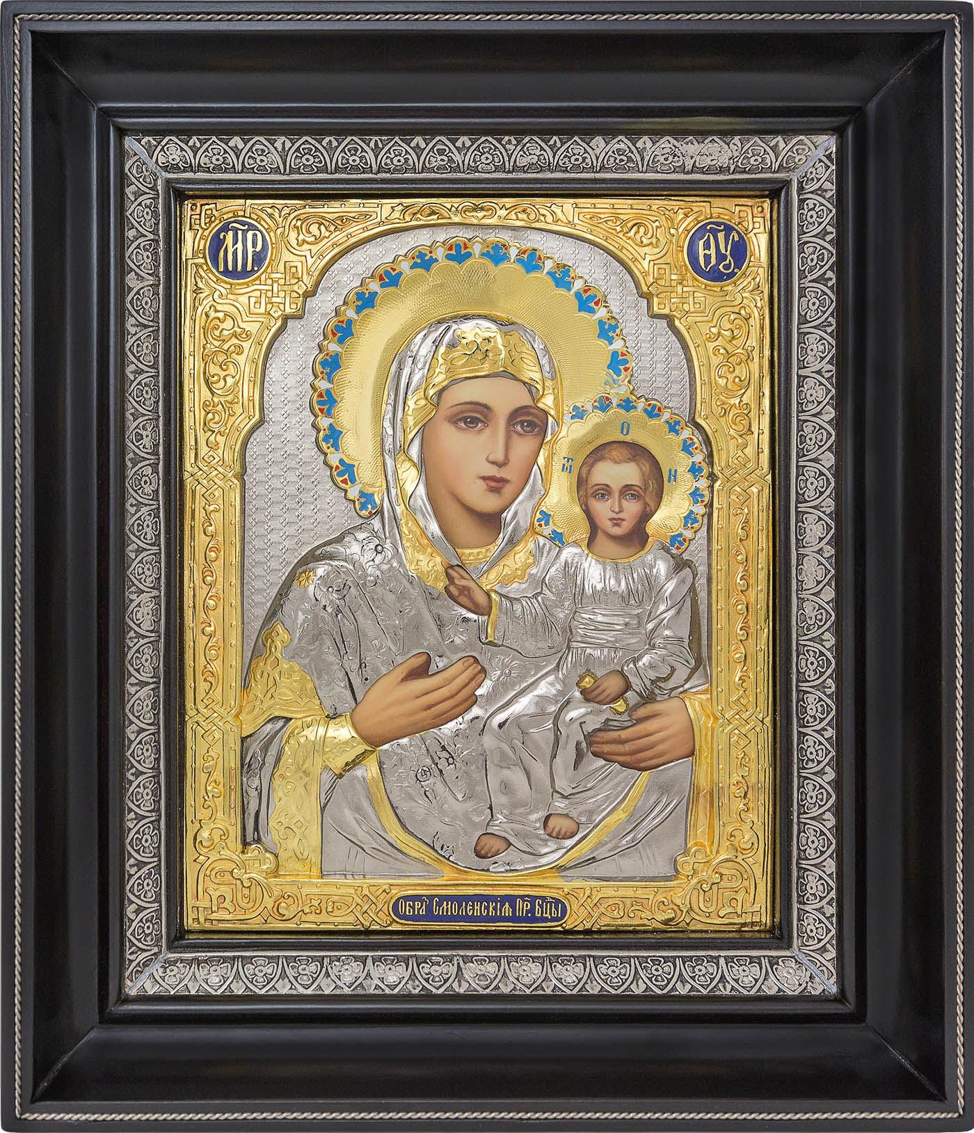 фото Смоленская икона Божией Матери гальванопластика золото серебро