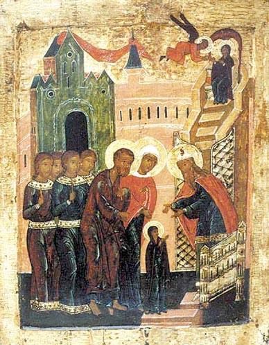 фото икона Введение во храм Пресвятой Богородицы XVI век