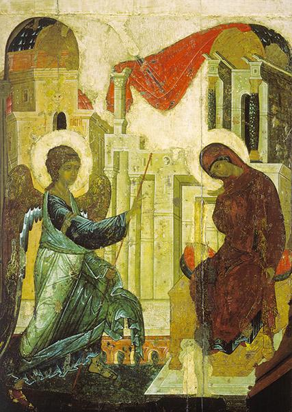 фото икона Благовещение Пресвятой Богородицы Государственная Третьяковская галерея