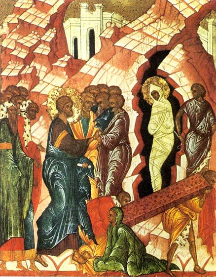 фото икона Воскрешение Лазаря